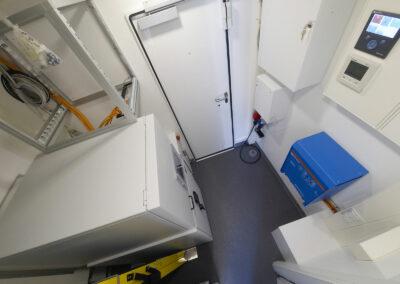 Technikraum separater Bereich mit Zugang zum Service beim GA